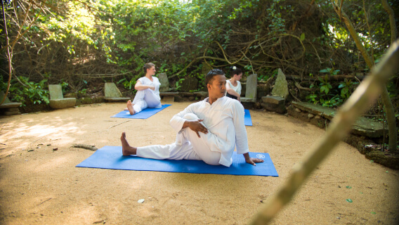 Yoga, Meditation, Thai Chi Kurse und Beauty Behandlungen im  Lanka Princess Hotel, dem Ayurveda Hotel in Sri Lanka