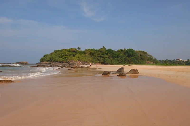 Bentota Strand Bild auf Sri Lanka