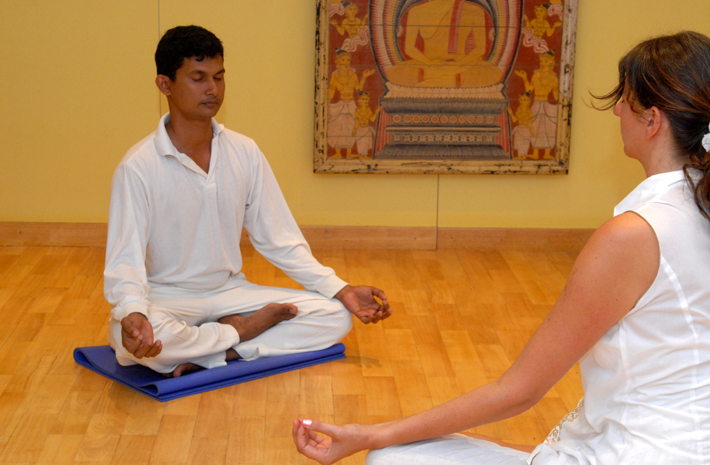 Yoga Studio und Meditation im Ayurveda Hotel Lanka Princess
