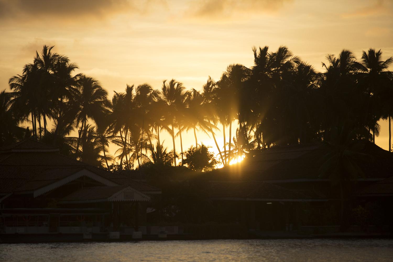 Sri Lanka Sonnenuntergang im Ayurvedahotel Sri Lanka
