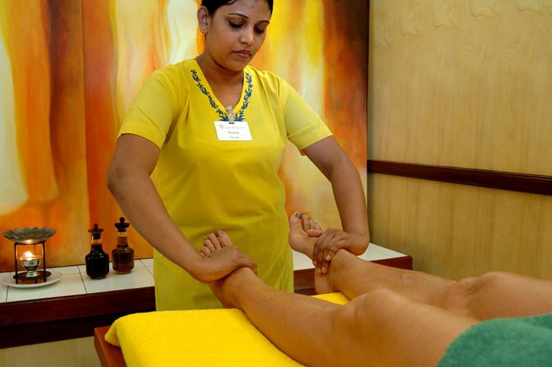 Fußmassage im Lanka Princess