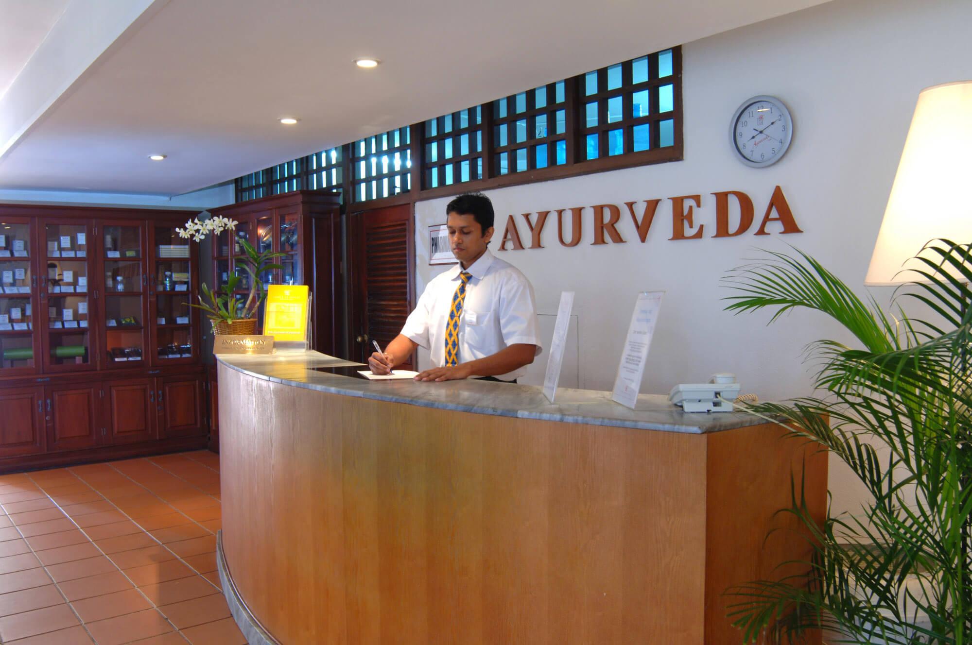 Ayurveda Hotel Lanka Princess center Terasse