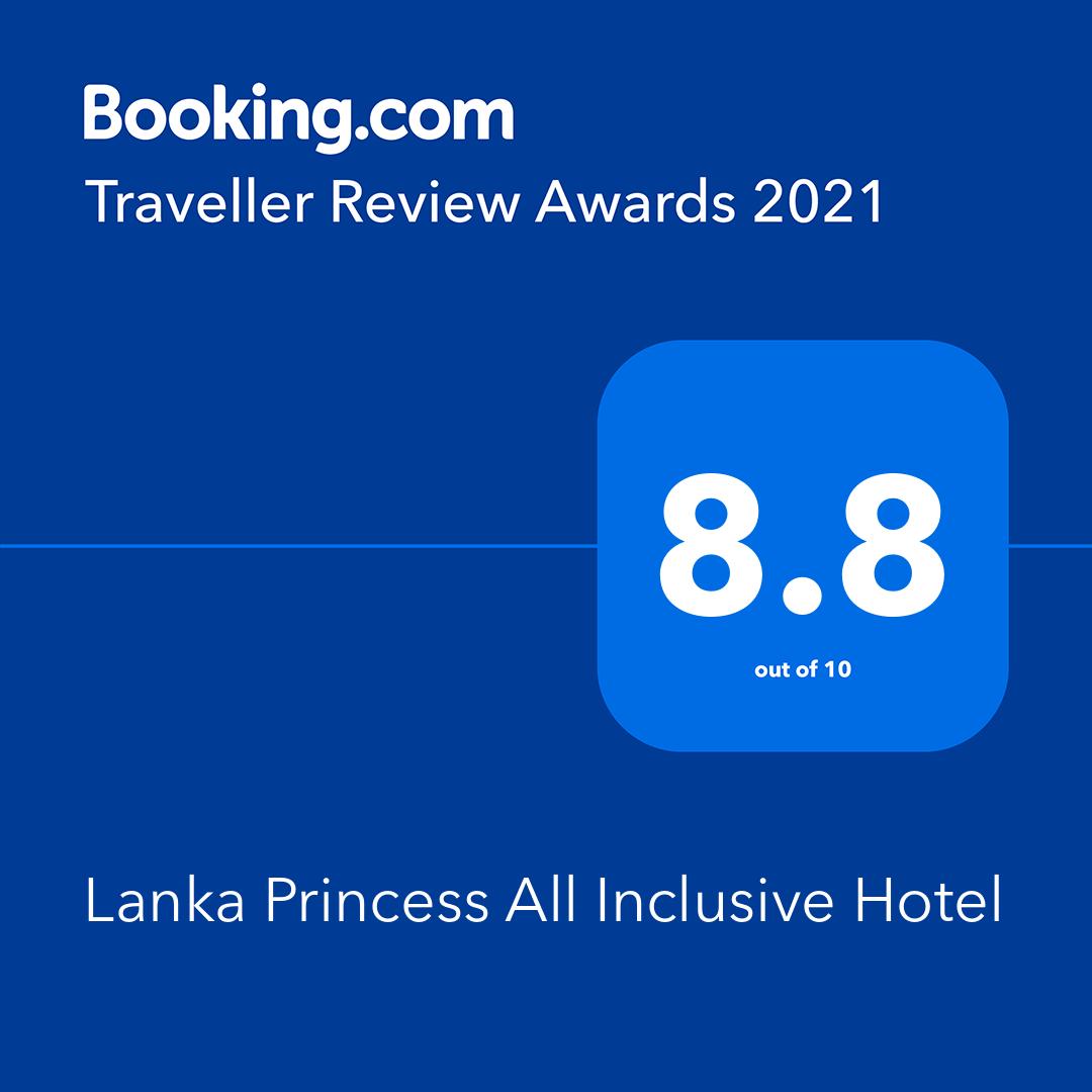 Booking.com Award 2021 - Lanka Princess